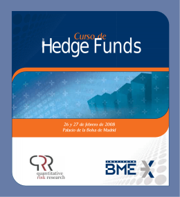 Folleto Hedge Funds - Estrategias de inversión