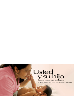 Usted y Su Hijo, Spanish language Outreach Brochure