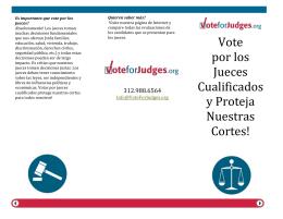 Vote por los Jueces Cualificados y Proteja Nuestras Cortes!