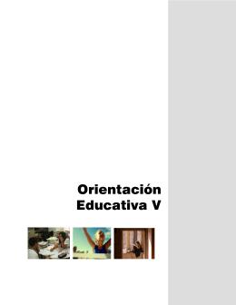 Orientación Educativa V - Colegio de Bachilleres del Estado de