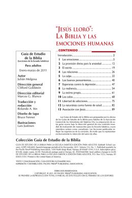 """""""JESÚS LLORÓ LA BIBLIA Y LAS EMOCIONES HUMANAS"""