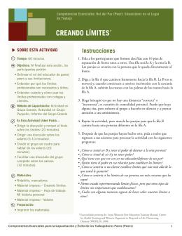 CREANDO LÍMITES* - Peer Education & Evaluation Resource Center