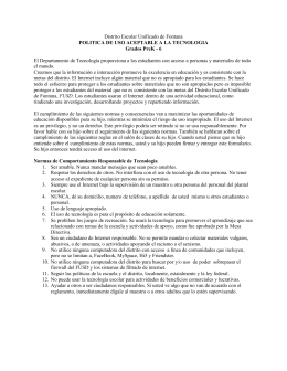 Distrito Escolar Unificado de Fontana POLITICA DE USO