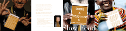 Folleto Asociativo Slow Food