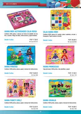 caja hama midi hama midi actividades caja rosa hama princesas