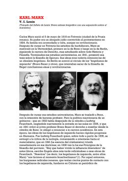 Biografía de Karl Marx. V. I. Lenin