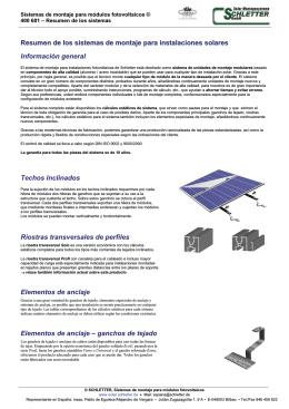 Resumen de los sistemas de montaje para instalaciones solares