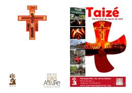 Folleto Taizé - Parroquia Genovés
