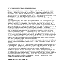APOSTOLADO CRISTIANO DE LO SENCILLO