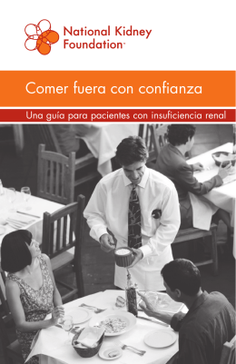Comer fuera con confianza - National Kidney Foundation
