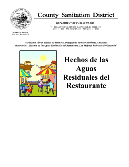 Sanitation District letterhead
