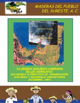 Folleto Reserva Ecológica Campesina de los