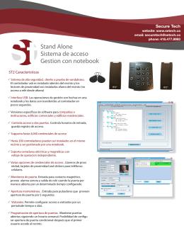 ST2 Sistema de Acceso