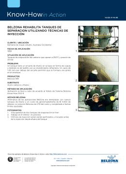 belzona rehabilita tanques de separacion utilizando técnicas de