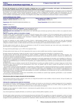 Folleto informativo - Tressis Gestión SGIIC