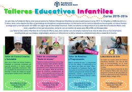 Folleto informativo Talleres Infantiles FMJJ – Curso 2015/2016