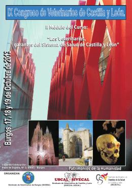 folleto A5 Congreso Veterinarios CyL Burgos