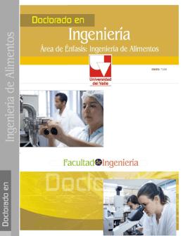 Folleto de Doctorado en Ingeniería de Alimentos en formato pdf.