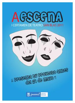 folleto maquetado teatro