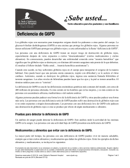 G6PD Deficiency - Spanish - Do You Know