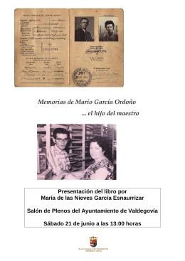 Presentación del libro por María de las Nieves García Esnaurrizar