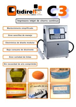 Impresora inkjet de chorro continuo