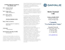 """Retiro Nacional CRI Campaña """"Un Sueño para Todos"""""""