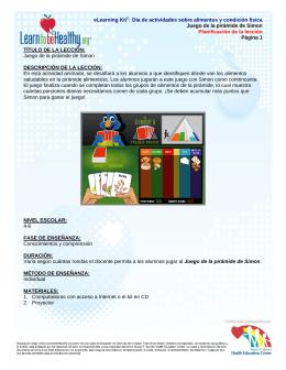 eLearning Kit©: Día de actividades sobre alimentos y condición