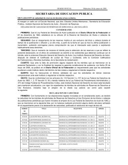 SECRETARIA DE EDUCACION PUBLICA - Diario-o