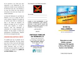NO AL HALLOWEEN - Iglesia Bautista La Casa de Dios