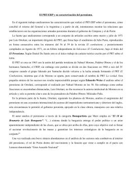 Remes, Alejo. El PRT ERP y su caracterización