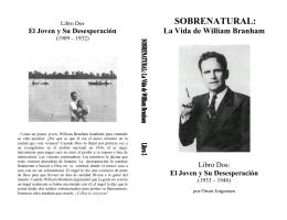Sobrenatural Libro 2 - Tabernáculo Restauración