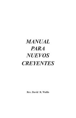 Manual para Nuevos Creyentes