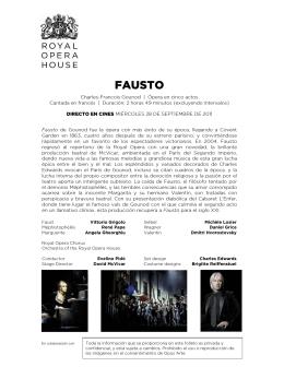 FAUSTO - Opera Cine Palafox