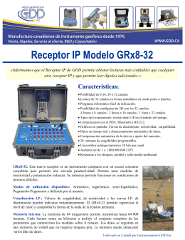 Folleto - Receptores IP