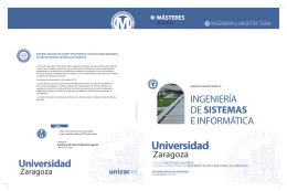Folleto Informativo - Universidad de Zaragoza
