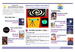 folleto estrellas - Bibliotecas Públicas