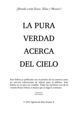 LA PURA VERDAD ACERCA DEL CIELO