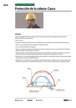 Protección de la cabeza: Casco