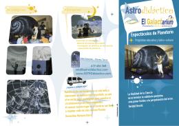 """Folleto con el Programa Educativo """"Astronomía Didáctica en el Aula"""