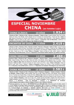 OFERTA CHINA ESPECIAL NOVIEMBRE (en