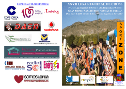 Folleto cross de Lorca XXVII LIGA REGIONAL DE CROSS