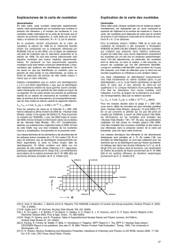 Explicaciones de la carta de nucleidos Explication de