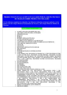 sumario de productos evaluados 05-10-11