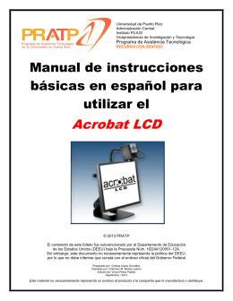 Acrobat LCD - Programa de Asistencia Tecnológica de Puerto Rico