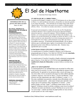 El Sol de Hawthorne - Hawthorne Early Childhood School