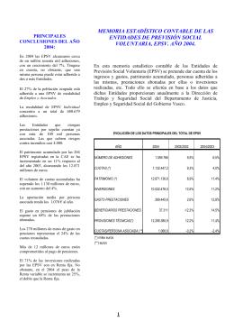 FOLLETO SOBRE INFORMACIN ESTADSTICO CONTABLE EPSVs