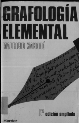 Grafologia Elemental