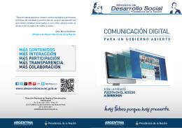 Comunicación digital para un gobierno abierto (folleto)