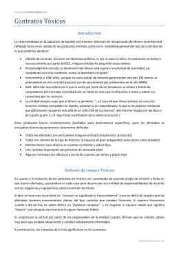 Contratos Tóxicos - Plataforma Accionistas CAM